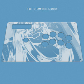 Custom Etch and Cut Plexi Artwork Cover for MadCatz Soul Calibur V SOUL Edition Regular