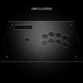 Blank Plexi Cover for MadCatz Soul Calibur V SOUL Edition Full
