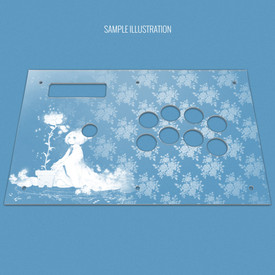 Custom Etch and Cut Plexi Artwork Cover for MadCatz Soul Calibur V SOUL Edition Full