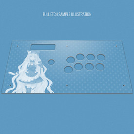 Custom Etch and Cut Plexi Artwork Cover for MadCatz V.S. Top Panel