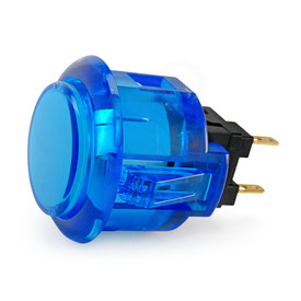 Sanwa OBSC 24mm Translucent Pushbutton - Blue