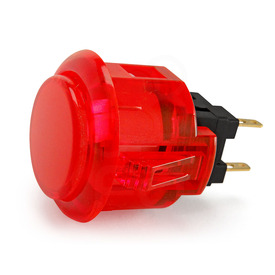 Sanwa OBSC 24mm Translucent Pushbutton - Red