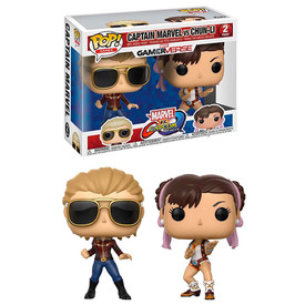 Funko Marvel vs Capcom Infinite Captain Marvel vs Chun-Li Pop (2pk)