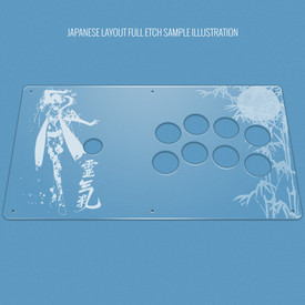 Custom Etch Plexi Cover for ETokki Omni (PS3/PS4 version)