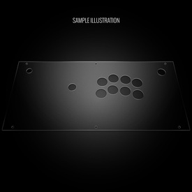 Blank Plexi Cover for Hori 2017 Fighting Edge (PS4 Model)