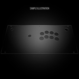 Blank Plexi Artwork Cover for Hori 2017 Fighting Edge (PS4 Model)