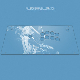 Custom Etch Plexi Cover for Hori 2017 Fighting Edge (PS4 Model)