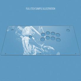 Custom Etch Plexi Cover for Hori 2017 Fighting Edge (PS4 Model)