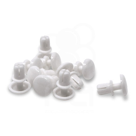 "HitBox Rivet Snaps 0.197"" Nylon - White (Set of 10)"