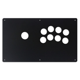 "AllFightSticks 14"" Button Panel - Korean Noir 8 Layout"