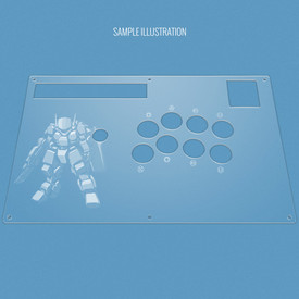 Custom Etch Plexi Cover for Hori RAP DOA5, NA-S3