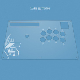 Custom Etch Plexi Cover for Hori RAP N