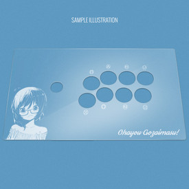 "Custom Etch Plexi Cover for MadCatz T.E.2, T.E.2+ (Generation 2 1/30"")"