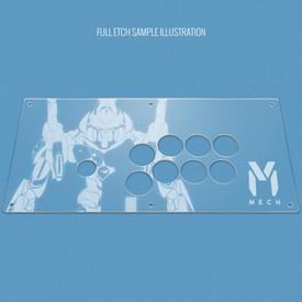 Custom Etch Plexi Cover for Nacon Daija (PS4)