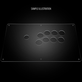 "Blank Plexi Cover for AllFightSticks 14"" Vewlix Panel"