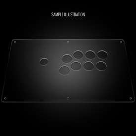 "Blank Plexi Cover for AllFightSticks 14"" Vewlix"