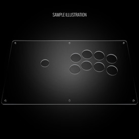 "Blank Plexi Cover for AllFightSticks 14"" Noir Panel"