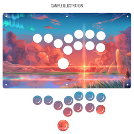 "Artwork Print and Cut for AllFightSticks 14"" Stickless Panel"
