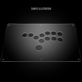 "Blank Plexi Cover for AllFightSticks 14"" Stickless Panel"