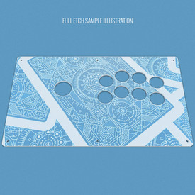 "Custom Etch Plexi Cover for AllFightSticks 14"" Noir Korean Lever"