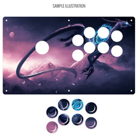 "Artwork Print and Cut for AllFightSticks 14"" Sega 2P Type R Korean Lever Panel"