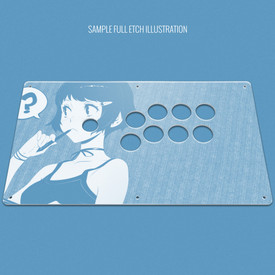 "Custom Etch Plexi Cover for AllFightSticks 14.5"" Vewlix Panel (Not Extended)"