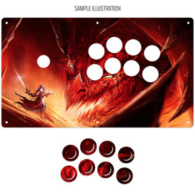 "Artwork Print and Cut for AllFightSticks 14.5"" Noir Panel"