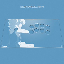 "Custom Etch Plexi Cover for AllFightSticks 14.5"" Noir"
