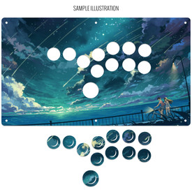 "Artwork Print and Cut for AllFightSticks 14.5"" Stickless Panel"