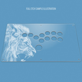 "Custom Etch Plexi Cover for AllFightSticks 14.5"" Stickless Panel"