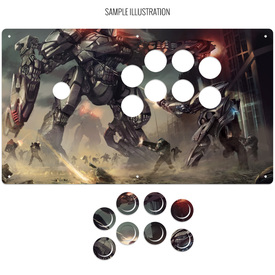 "Artwork Print and Cut for AllFightSticks 14.5"" Sega 2P Extended Panel"