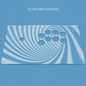 "Custom Etch Plexi Cover for AllFightSticks 14.5"" Sega 2P Extended Panel"