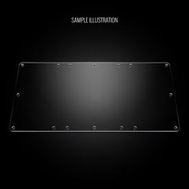 "Blank Plexi Cover for AllFightSticks 14"" & 14.5"" Bottom Window"
