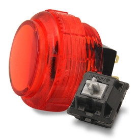 Crown/Samducksa SDB-202C MX 30mm Translucent Screwbutton Red