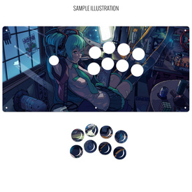 "Artwork Print and Cut for AllFightSticks 18"" Noir Panel"