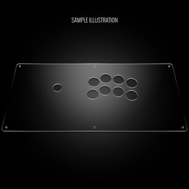 "Blank Plexi Cover for AllFightSticks 18"" Noir"