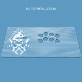 "Custom Etch Plexi Cover for AllFightSticks 18"" Noir"