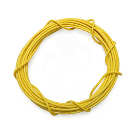 22 AWG Wire By-The-Foot: Yellow
