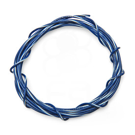 22 AWG Wire By-The-Foot: Blue/White Stripe