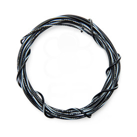 22 AWG Wire By-The-Foot: Black/White Stripe