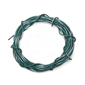 22 AWG Wire By-The-Foot: Green/White Stripe