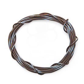 22 AWG Wire By-The-Foot: Brown/White Stripe