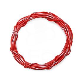 22 AWG Wire By-The-Foot: Red/White Stripe