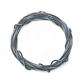 22 AWG Wire By-The-Foot: Grey/White Stripe