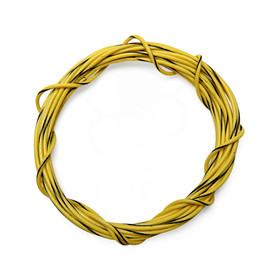 22 AWG Wire By-The-Foot: Yellow/Black Stripe