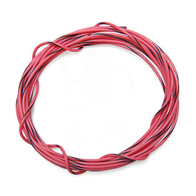22 AWG Wire By-The-Foot: Pink/Black Stripe