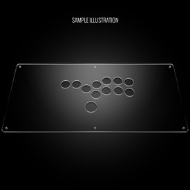 "Blank Plexi Cover for AllFightSticks 18"" Stickless Panel"