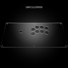 "Blank Plexi Cover for AllFightSticks 18"" Sega 2P Extended"