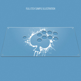"Custom Etch Plexi Cover for AllFightSticks 18"" Sega 2P Extended"