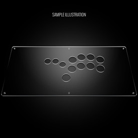 "Blank Plexi Cover for AllFightSticks 18"" Shiokenstar Panel"
